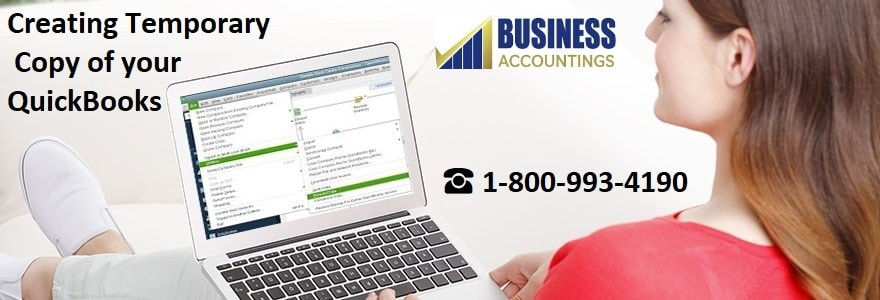 Creating Temporary Copy of your QuickBooks