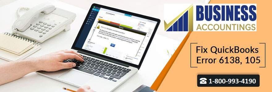 How To Fix QuickBooks Error 6138, 105