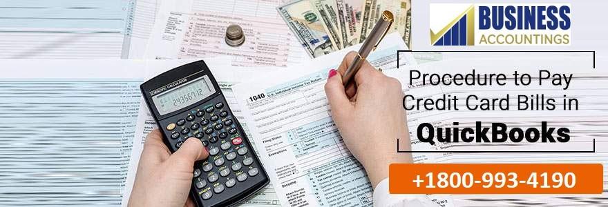 Procedure to Pay Credit Card Bills in QuickBooks