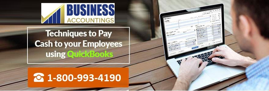 Pay Cash to your Employees using QuickBooks