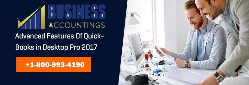 Advanced Features of QuickBooks in Desktop Pro 2017