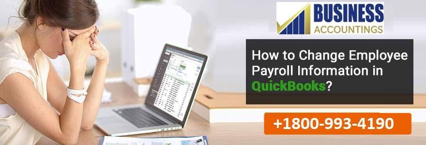 Change Employee Payroll Information in QuickBooks 1 1