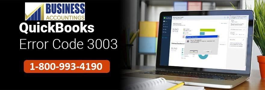 QuickBooks Error Code 3003