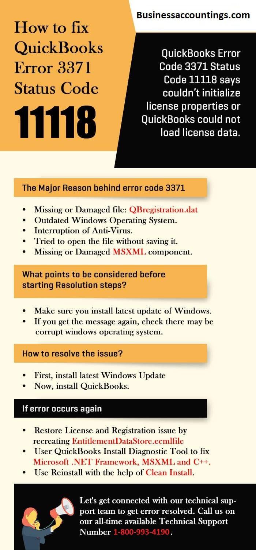 how to fix quickbooks error 3371 status code 11118 1