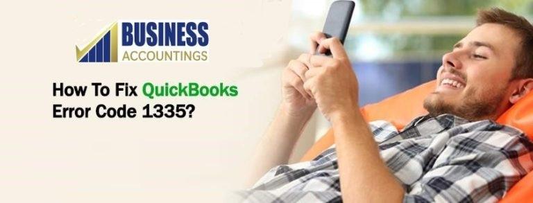 QuickBooks Error Code 1335