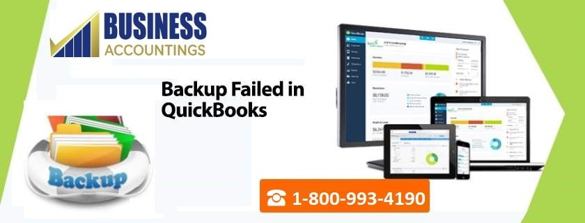Backup Failed in QuickBooks