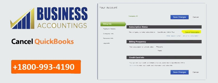 Cancel your QuickBooks Online Subscription
