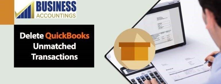 delete quickbooks unmatched transaction