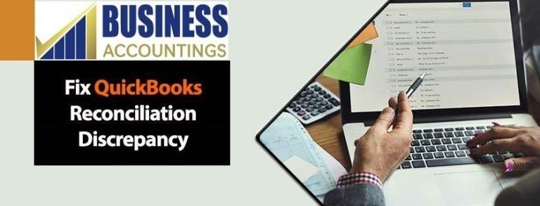 Fix QuickBooks Reconciliation Discrepancy