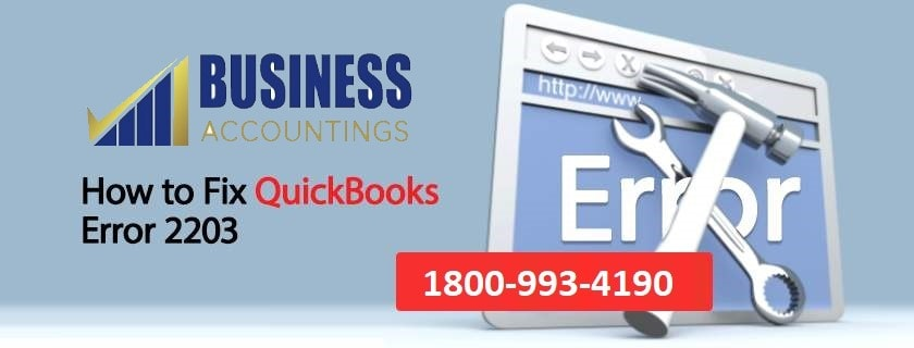 QuickBooks Error 2203