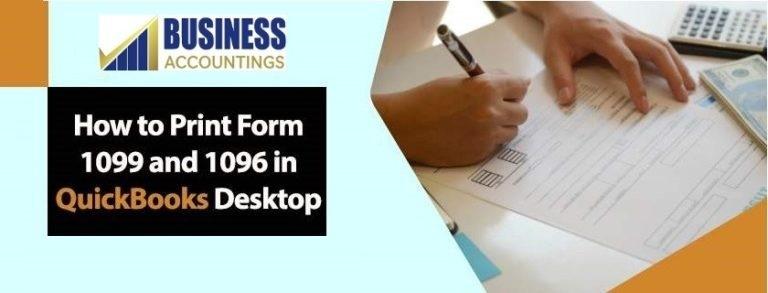 Print Form 1099 And 1096 In QuickBooks Desktop