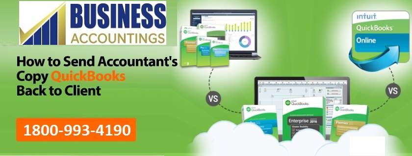 send accountant's copy QuickBooks back to client