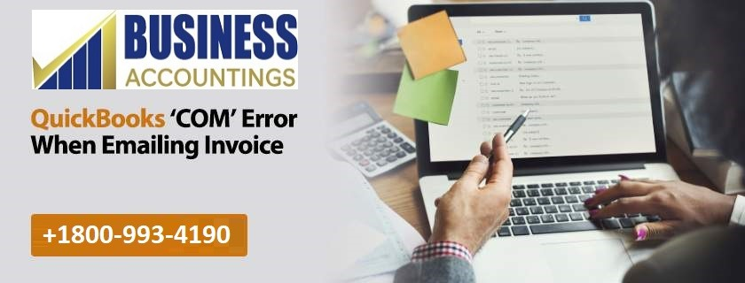 QuickBooks 'COM' error when emailing invoice