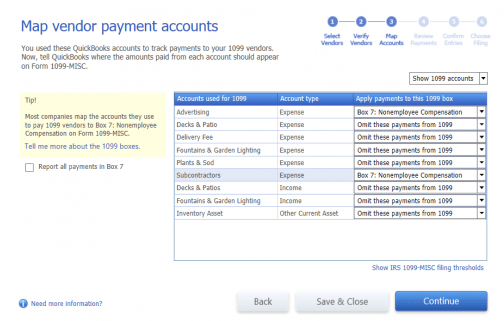 Set up an expense account for vendor payments in QuickBooks Desktop