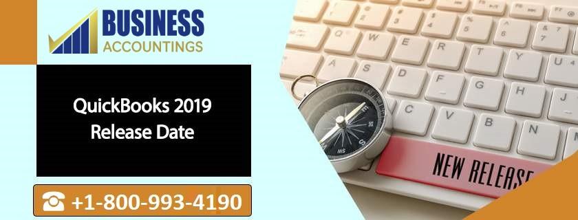 QuickBooks 2019 Release Date