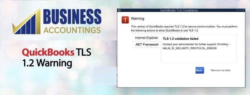 QuickBooks TLS 1.2 Warning 2