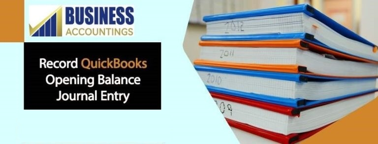 QuickBooks opening balance journal entry