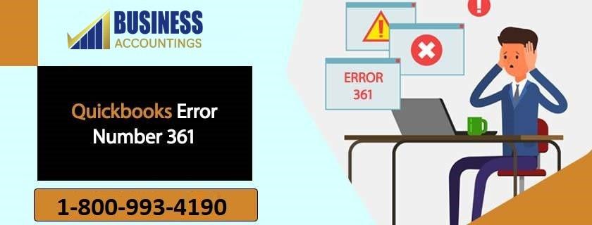 QuickBooks error number 361
