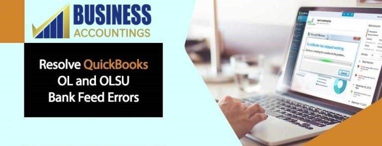 QuickBooks OL and OLSU Bank Feed Errors