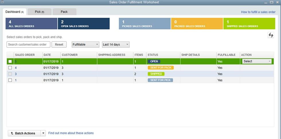 Sales Order Worksheet