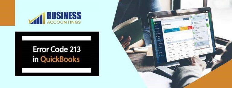 Error Code 213 in QuickBooks