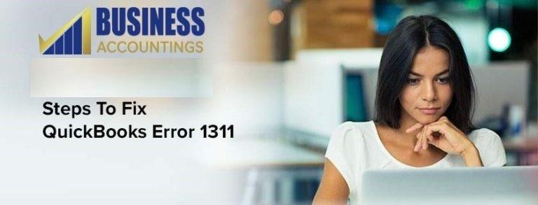 QuickBooks Error Code 1311