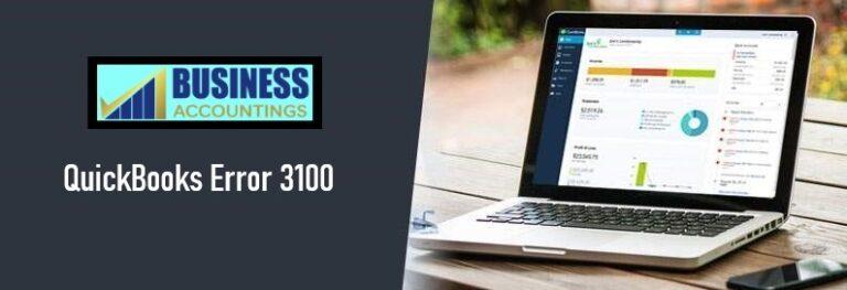 QuickBooks Error Code 3100