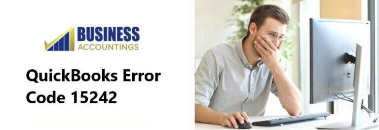 QuickBooks Error Code 15242