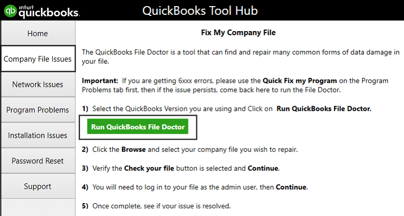 File Doctor tool