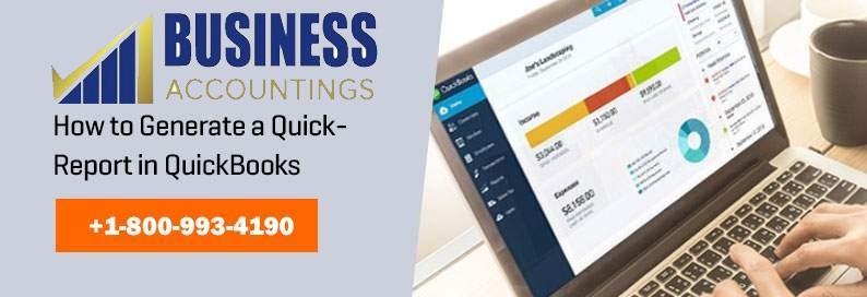Generate a Quick Report in QuickBooks
