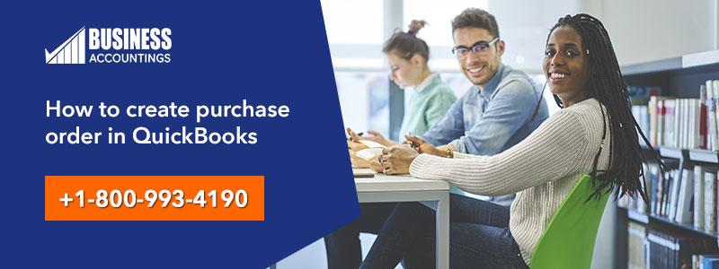 create purchase order in QuickBooks