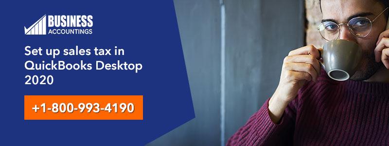 Set up sales tax in QuickBooks Desktop 2020