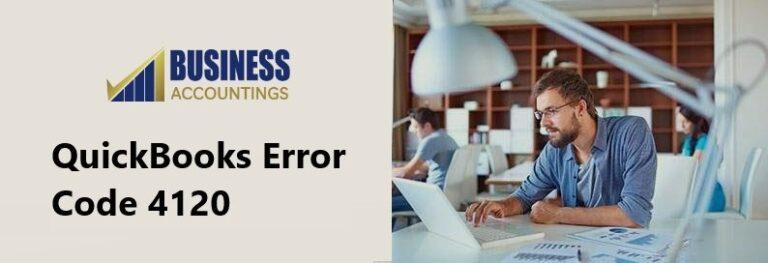 QuickBooks Error Code 4120