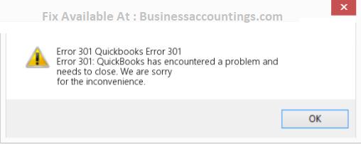 Quickbooks Error 301