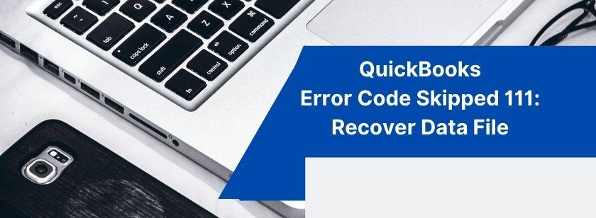 QuickBooks Error Code Skipped 111_ Recover Data File