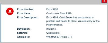 QuickBooks Banking Error 9999