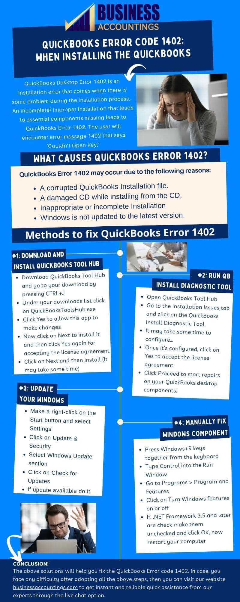 Infographic To Resolve QuickBooks Error Code 1402