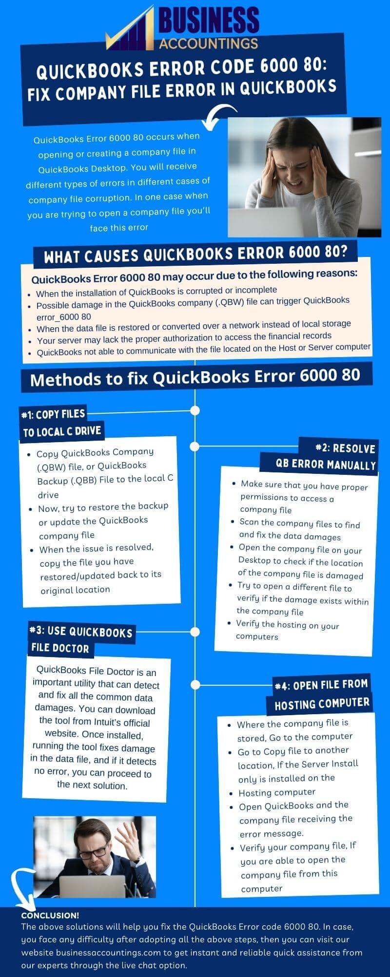 Infographic to Fix QuickBooks Error 6000, 80