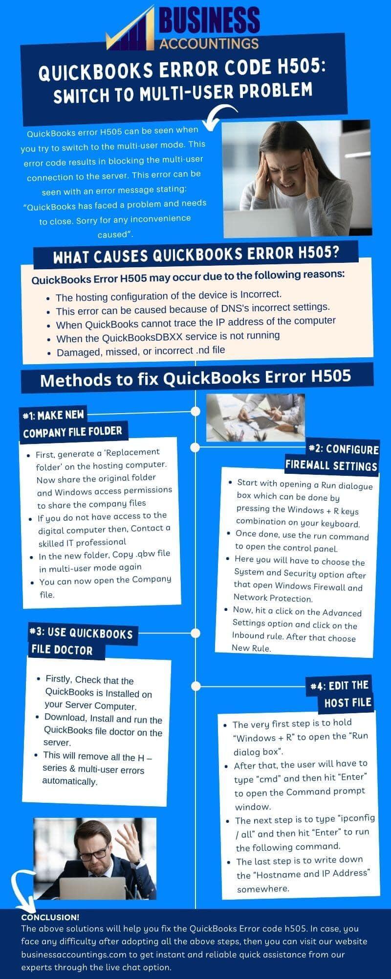 Infographics to Fix QuickBooks Error Code H505