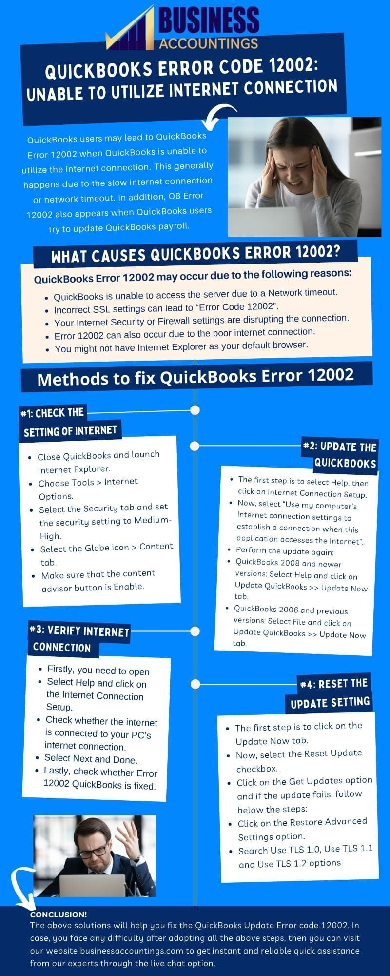 Infographic of Solution for QuickBooks Error Code 12002