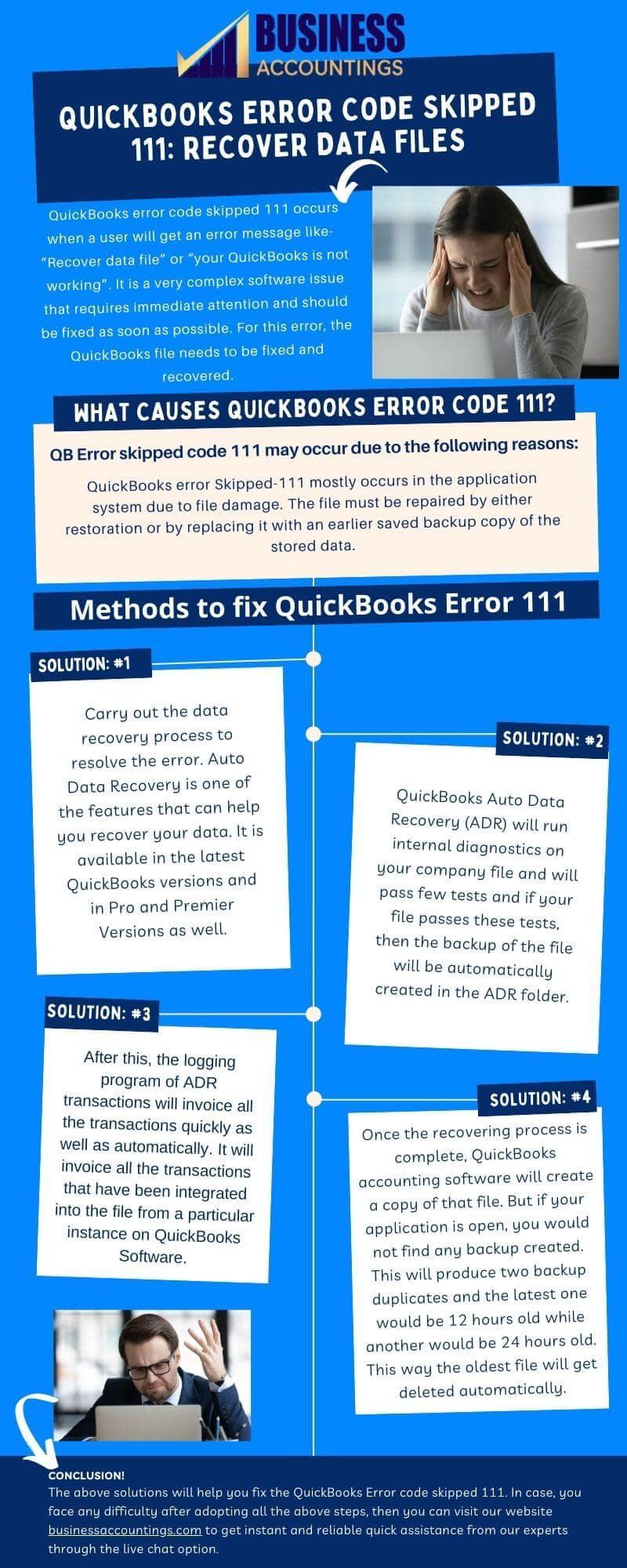 Infographic to Fix The QuickBooks Error Code Skipped 111