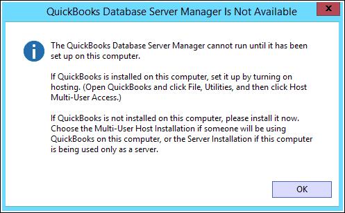 QuickBooks Database Server Stopped working