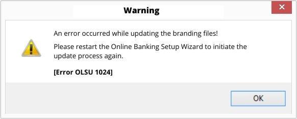 QuickBooks OLSU Error 1024 Message Screenshot